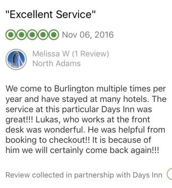 TripAdvisor Comment, November 2016