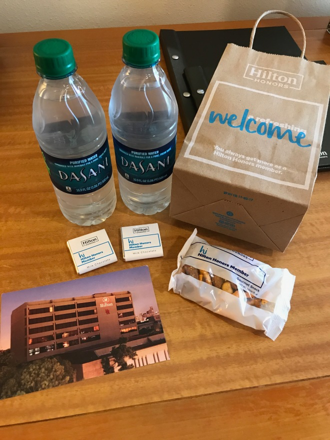 Hilton Honors Welcome Bag